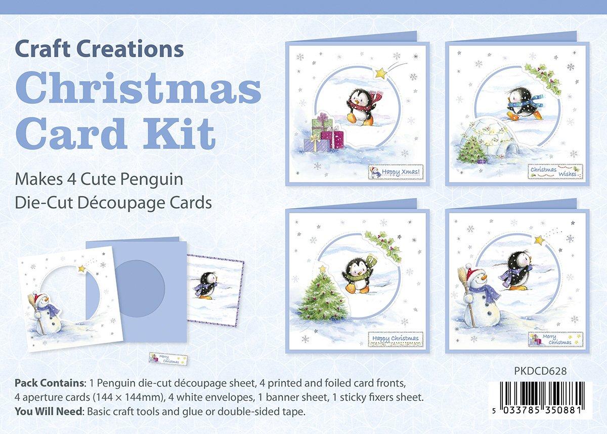 Craft Creations Die-Cut 3D Decoupage Christmas Card Kit - PKDCD628 ...