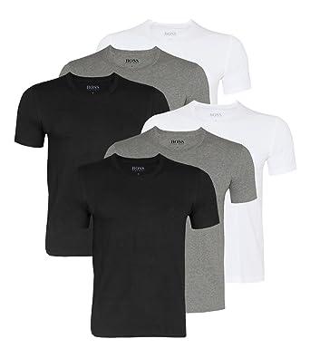 Camisetas de hombre HUGO BOSS, camisetas elegantes de cuello redondo, 50325388, paquete de 6: Amazon.es: Ropa y accesorios