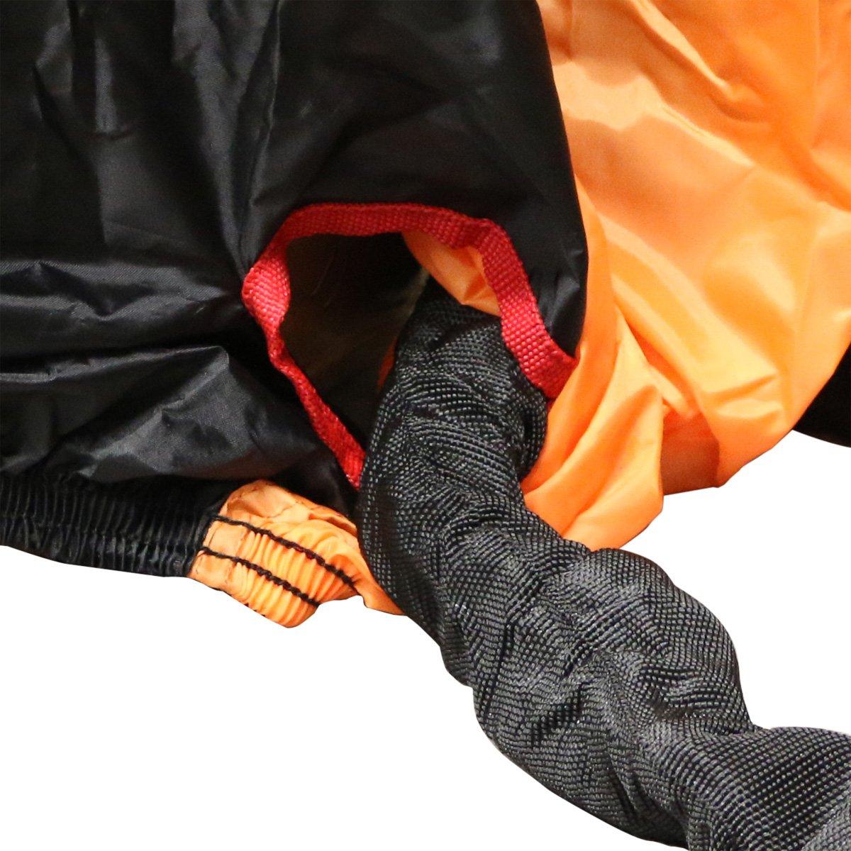 Moyen Ryde Couverture Imperm/éable en Noir//Orange de Moto