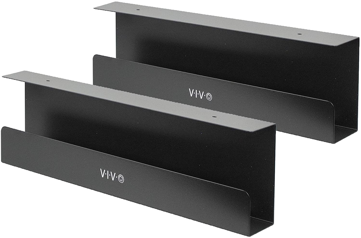 Vivo Under Desk 17 Inch Cable Management Trays Power Strip Holders Cord Organizers Wire Tamers For Office And Home Black 2 Pack Desk Ac06 2c Home Audio Theater