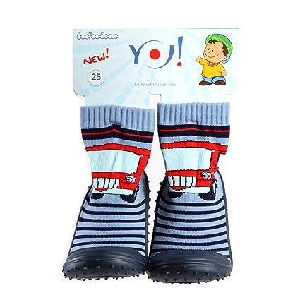 Niños casa Calcetines Calcetines con suela de goma Auto SI de 002 Talla 27