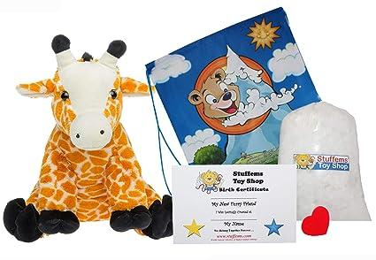 Amazon Com Make Your Own Stuffed Animal Giraffe No Sew Kit