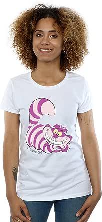 Disney Mujer Alice in Wonderland Cheshire Cat Camiseta