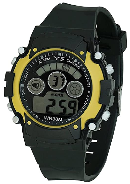 Multi Color Digital Ligth Watch for Children Yellow
