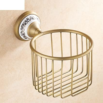 Cobre antiguo lleno de no-acero inoxidable toallero/wc rebobinadora impermeable/baño/