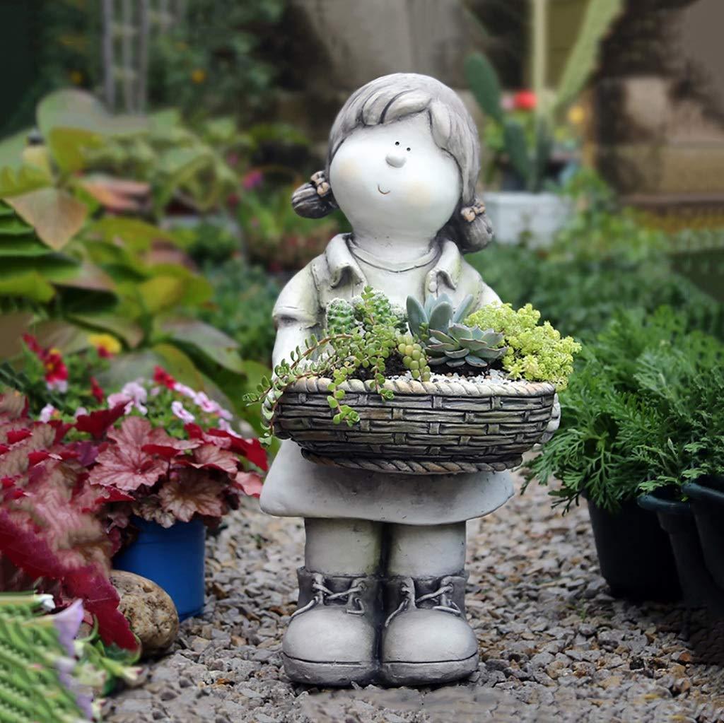 かわいい女の子植物プランターポット、多肉植物ポット用植物サボテンフラワーポット妖精ガーデン用女の子 B07SHF4692