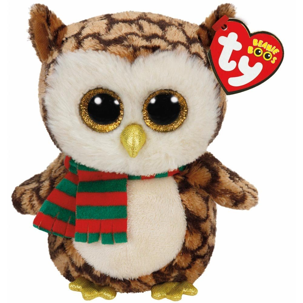 Amazon.com: Ty Beanie Boos WISE Owl with Scarf and FREEZE Penguin ...