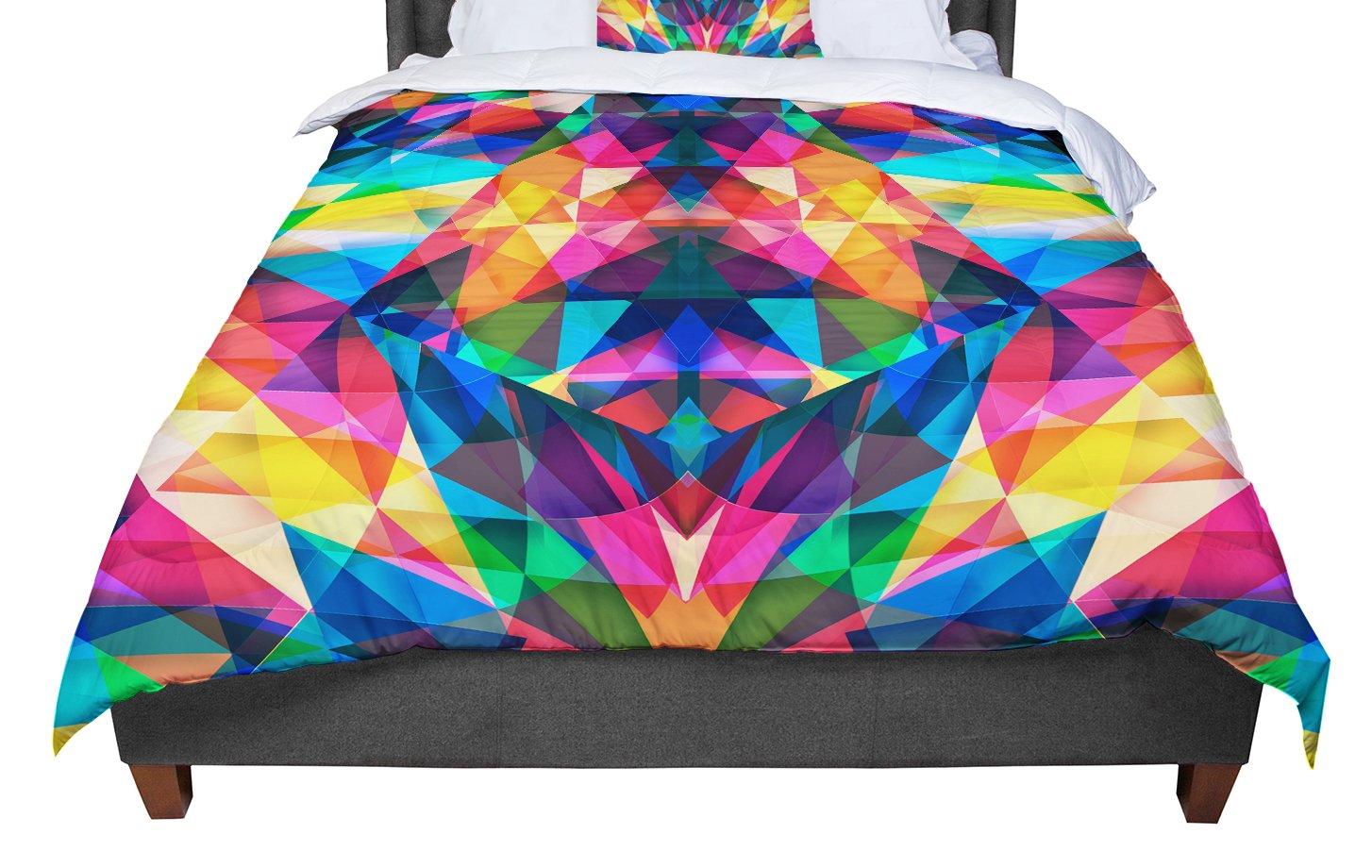 KESS InHouse Danny Ivan Day We Met Rainbow Geometric Queen Comforter 88 X 88