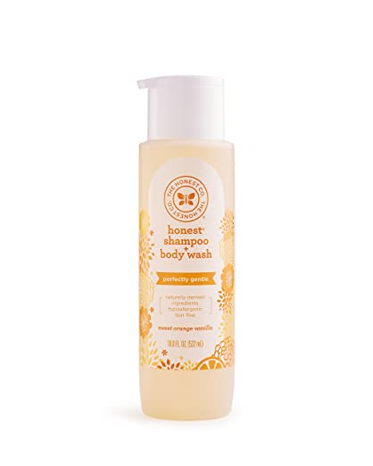 The Honest Company Perfectly Gentle Shampoo and Body Wash, Sweet Orange Vanilla, 18 Fluid Ounce