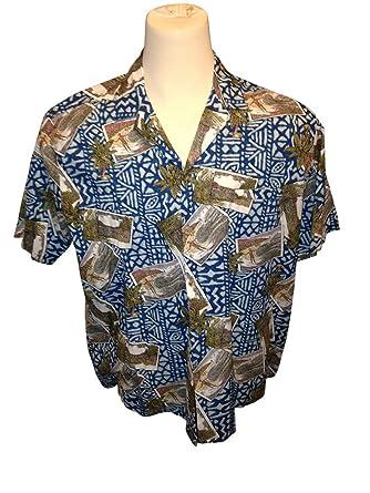 Johari West Geometric Shadow Tropical Hawaiian Batik Shirt
