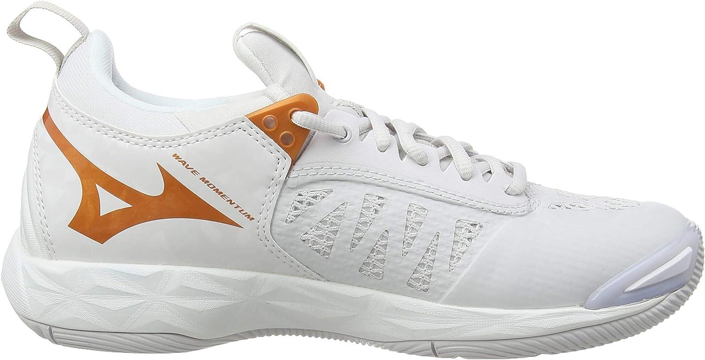 Mizuno Women's Wave Momentum Volleyball Shoes White Nimbus Cloud 10135c Wht 52