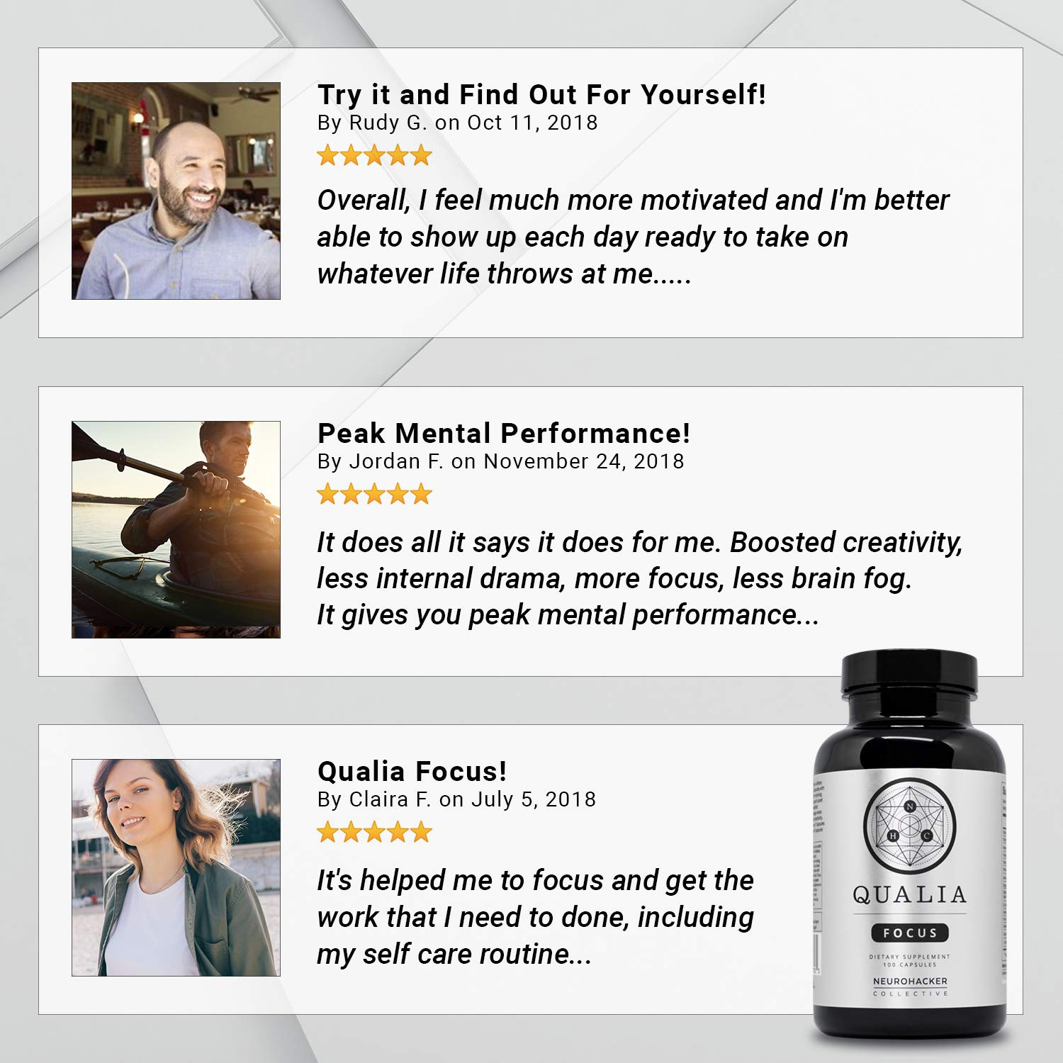 Qualia by Neurohacker Collective: The Most Comprehensive Nootropic Stack Designed to Increase Focus, Energy and Mental Performance by Neurohacker Collective (Image #6)