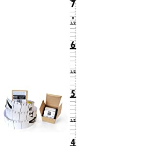 Posh Rulers Height Chart (White) for Surveillance of Home Office Bank Security. Made in USA.