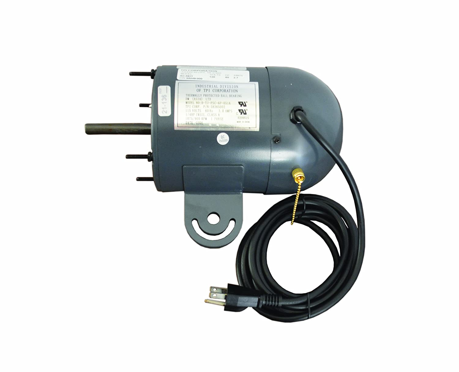 TPI Corporation AC-MOT Industrial Motor for Circulators, Single Phase, 120 Volt