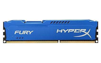 HyperX HX316C10F/8 - Memoria RAM de 8 GB (1600 MHz, DDR3, Non-ECC, CL10 DIMM), Color Azul