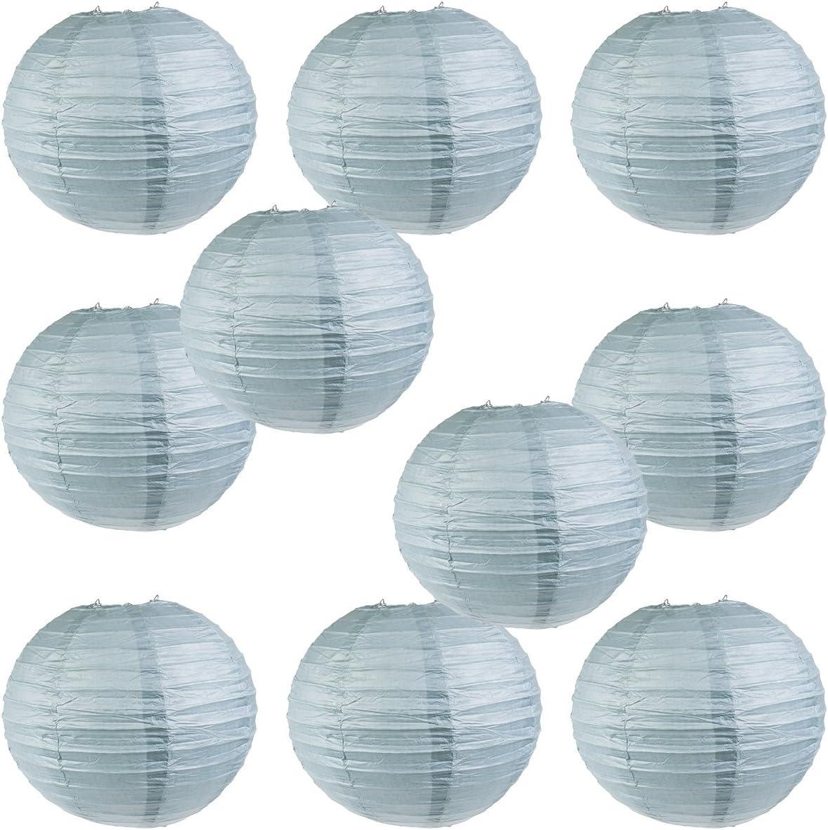 "14/"" 16/"" 8/"" 10/"" 12/"" with 8/"" WYZworks Round Paper Lanterns 10 Pack Black"