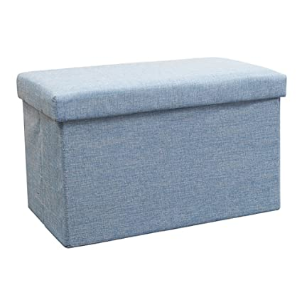 Awesome Amazon Com Lxf Ottomans Linen Like Fabric Folding Storage Forskolin Free Trial Chair Design Images Forskolin Free Trialorg