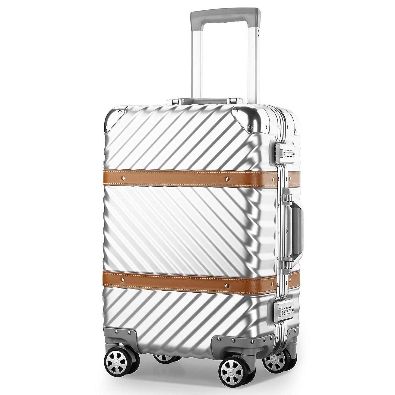 対処着飾る使用法クロース(Kroeus) スーツケース ファスナータイプ 4輪ダブルキャスター 静音 大型 大容量 軽量 人気 ソフト キャリーケース 旅行 出張 TSAロック搭載 耐衝撃 ヘアライン仕上げ