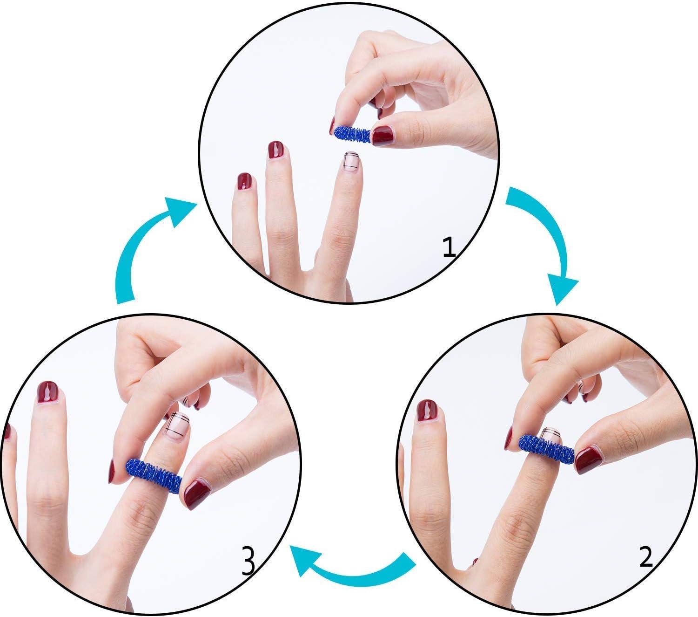 acupressure sonne doigt massage la bougeotte jouet sensoriel pour adultes enfants am/éliorer la circulation sanguine et aider avec anxi/ét/é le stress ajouter le thada toc les anneaux sensoriels