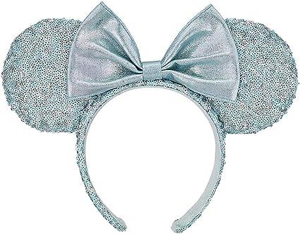 2.75 Shiny Padded Mouse Ears Blue Mermaid MME-014
