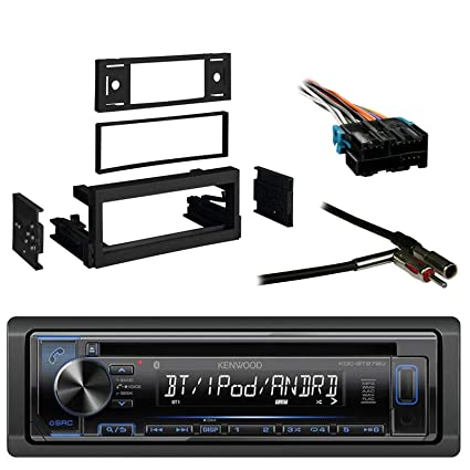 Kenwood In-Dash Single-DIN CD Player AUX Car Stereo Receiver with Metra on