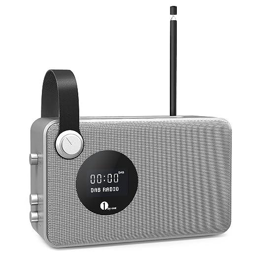 23 opinioni per 1byone Radio Digitale DAB / FM Bluetooth Radio con Sveglia/ FM / Schermo LCD /