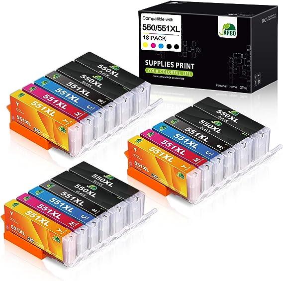 5 originale Canon pgi-550 cli-551 CARTUCCE INCHIOSTRO Multipack Pixma ix6820 6840