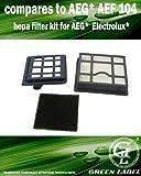 Green Label Kit des filtres pour les aspirateurs AEG / Electrolux / Tornado série T8 (alternative à AEG AEF 104)