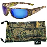a431f3dfc63 Hornz Brown Forrest Camouflage Polarised Sunglasses for Men Full Wide Arm  Sport Frame