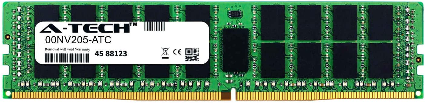 Single Server Memory Ram Stick DDR4 2400MHz PC4-19200 ECC Registered RDIMM 2rx4 1.2v A-Tech 32GB Replacement for Lenovo 00NV205 00NV205-ATC