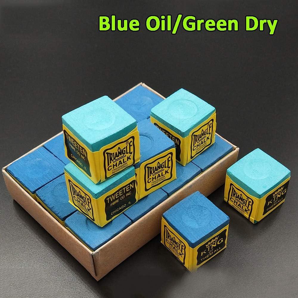 Tiza Verde Seca//Azul aceitosa Tizas Antideslizantes Tiza de Billar Antideslizante Tiza de Snooker Tiza de Billar Accesorios de Billar duraderos MZY1188 Tiza de Billar