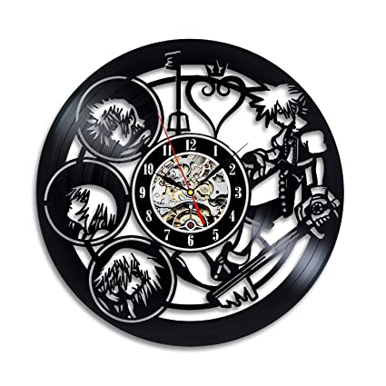 "Crafty Dove Kingdom Hearts 12"" Vinyl Record Wall Clock - Gift for Anime and Disney"