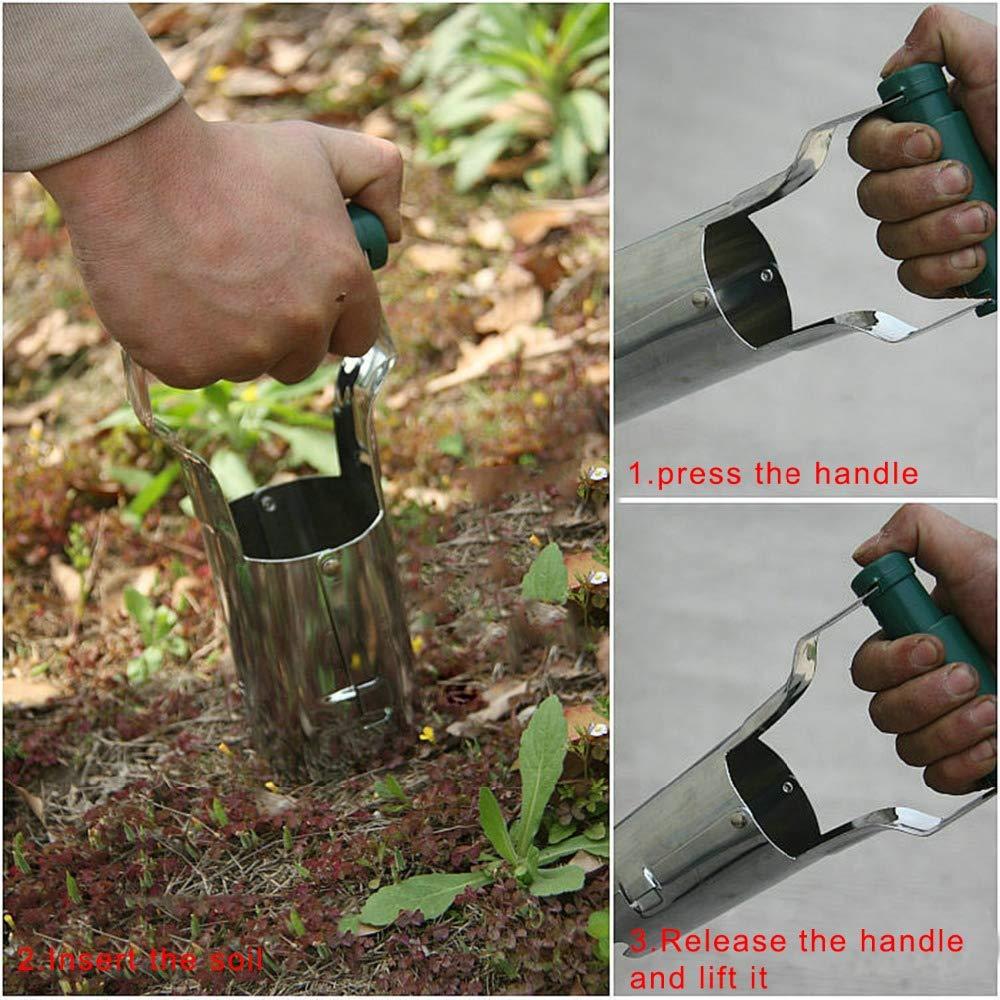 Bulb Planter Tulip Transplanter Depth Marks Bundle Includes: Garden Claw Gloves Padded Kneeler by Cardinal Home (Image #6)