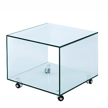 Riess Ambiente Extravaganter Glas Beistelltisch Ghost Cube Mit