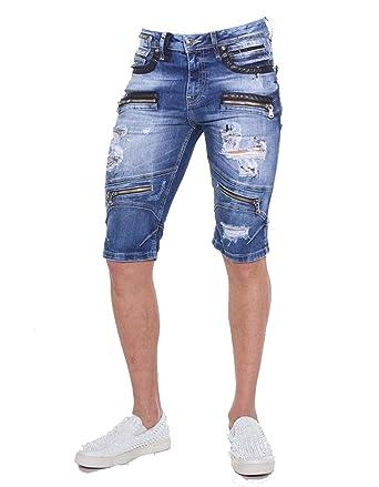 Cipo   Baxx Herren Shorts Freizeit Bermuda Kurze Hose in Regular Fit aus  100% Baumwolle 3c8e7b3de7