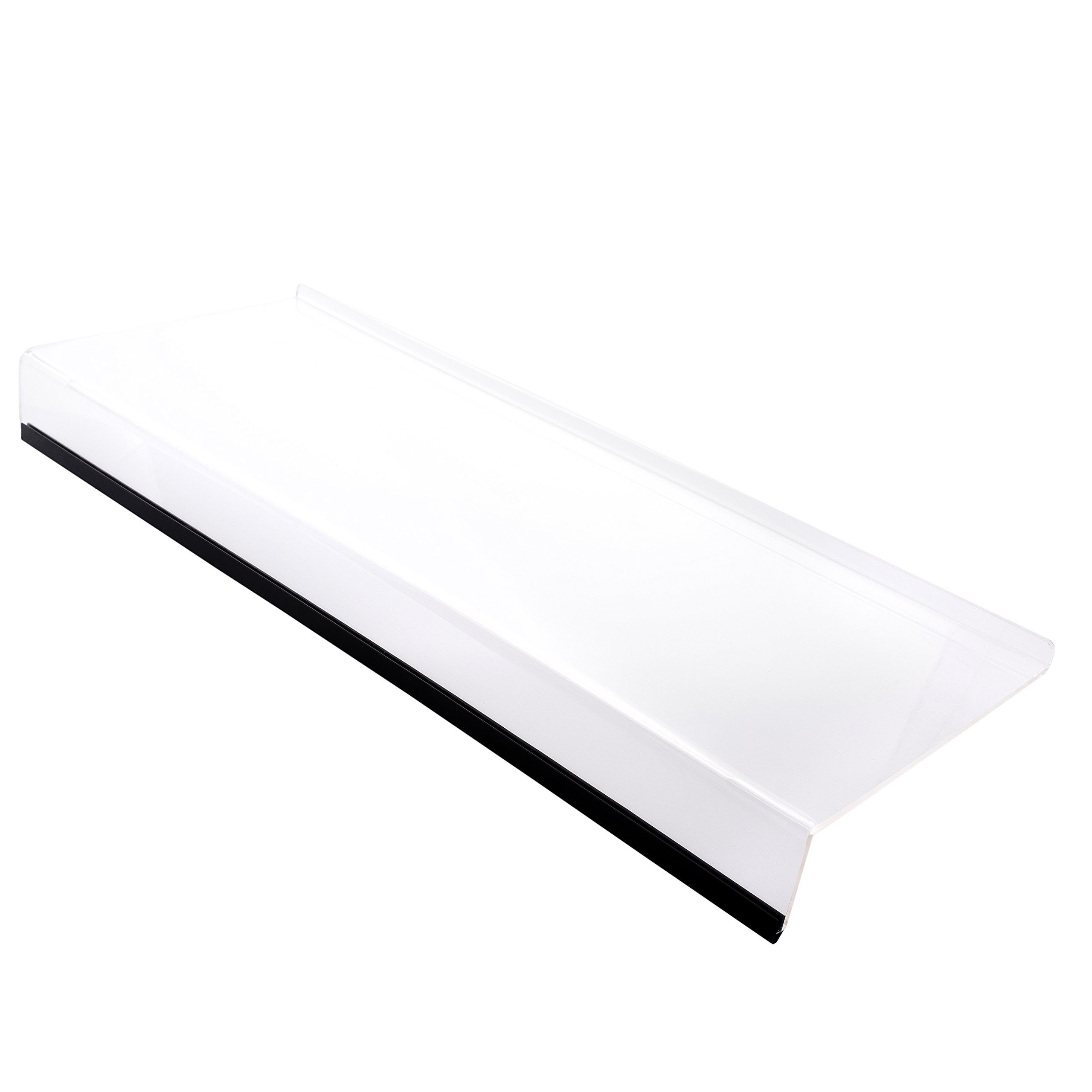 Tilted Ergonomic Computer Keyboard Stand With Rubber Strip