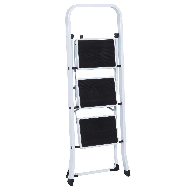 3/pelda/ños, Acero, Color Blanco//Negro, Aprox. 47/x 105/x 76/cm axentia Escalera