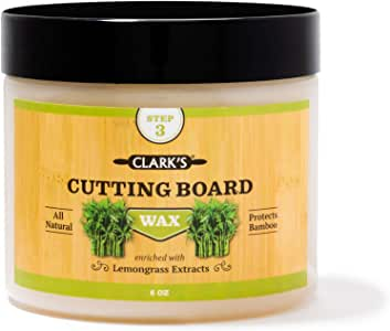 Bamboo Board Finish Wax (6oz) by CLARK'S | Enriched with Lemongrass Extract | Beeswax and Carnauba Wax | Specially Formulated for All Things Bamboo