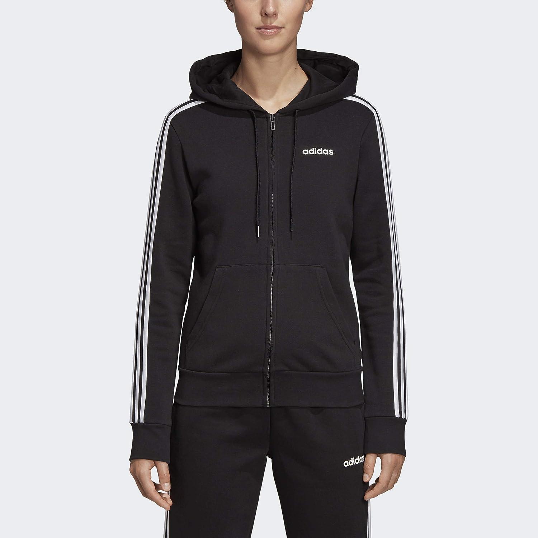 adidas Women's Essentials 3-stripes Fleece Full-zip Hoodie Sweatshirt