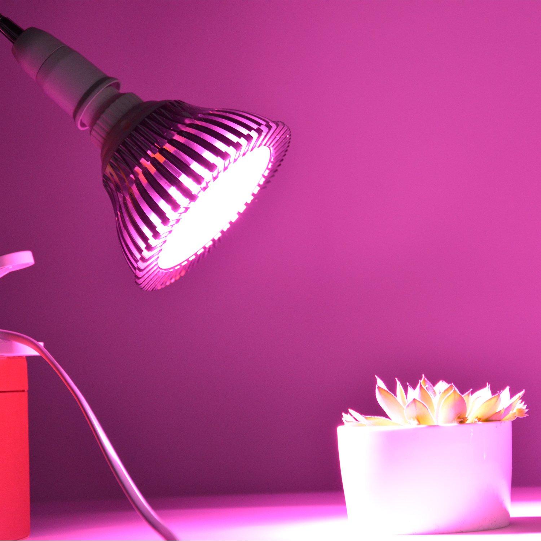 Cultivos belecome crecer bombilla LED para plantas de interior, plantas, flores, flores, hortalizas, de cultivo en interior. Luces LED para cultivo de ...