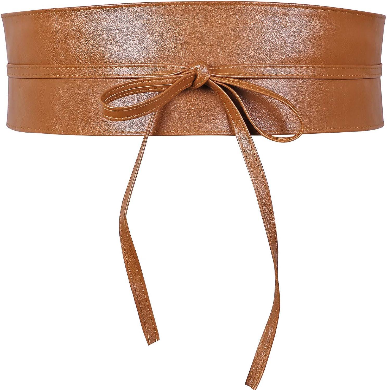 Faux Leather Obi Belt Wrap...