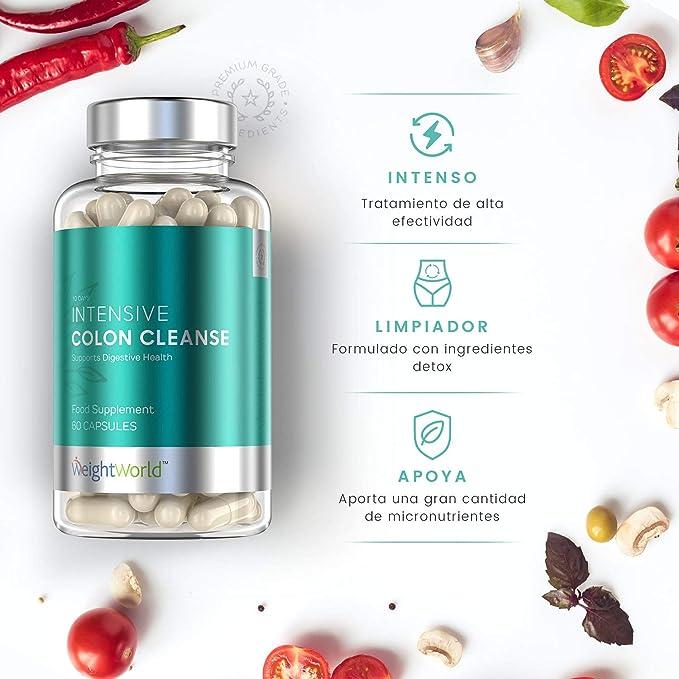 Limpiador De Colon 100% Natural Colon Cleanse Intensive - Tratamiento Detox Para Purificar El Organismo Y Limpiar El Sistema Digestivo - Limpieza De ...