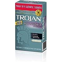 Trojan Condón Muy Sensible Lubricado 10 + 2 piezas