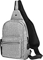 MOSISO Sling Backpack with USB Charging Port Hiking Daypack Outdoor Shoulder Bag