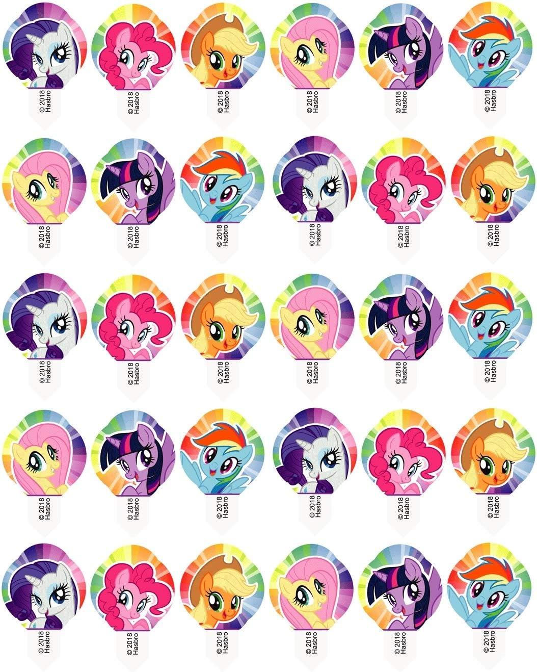 cupcake pronte alluso Prodotto con licenza. 30x Modecor 42053 per i fan di My Little Pony decorazioni pre-tagliate