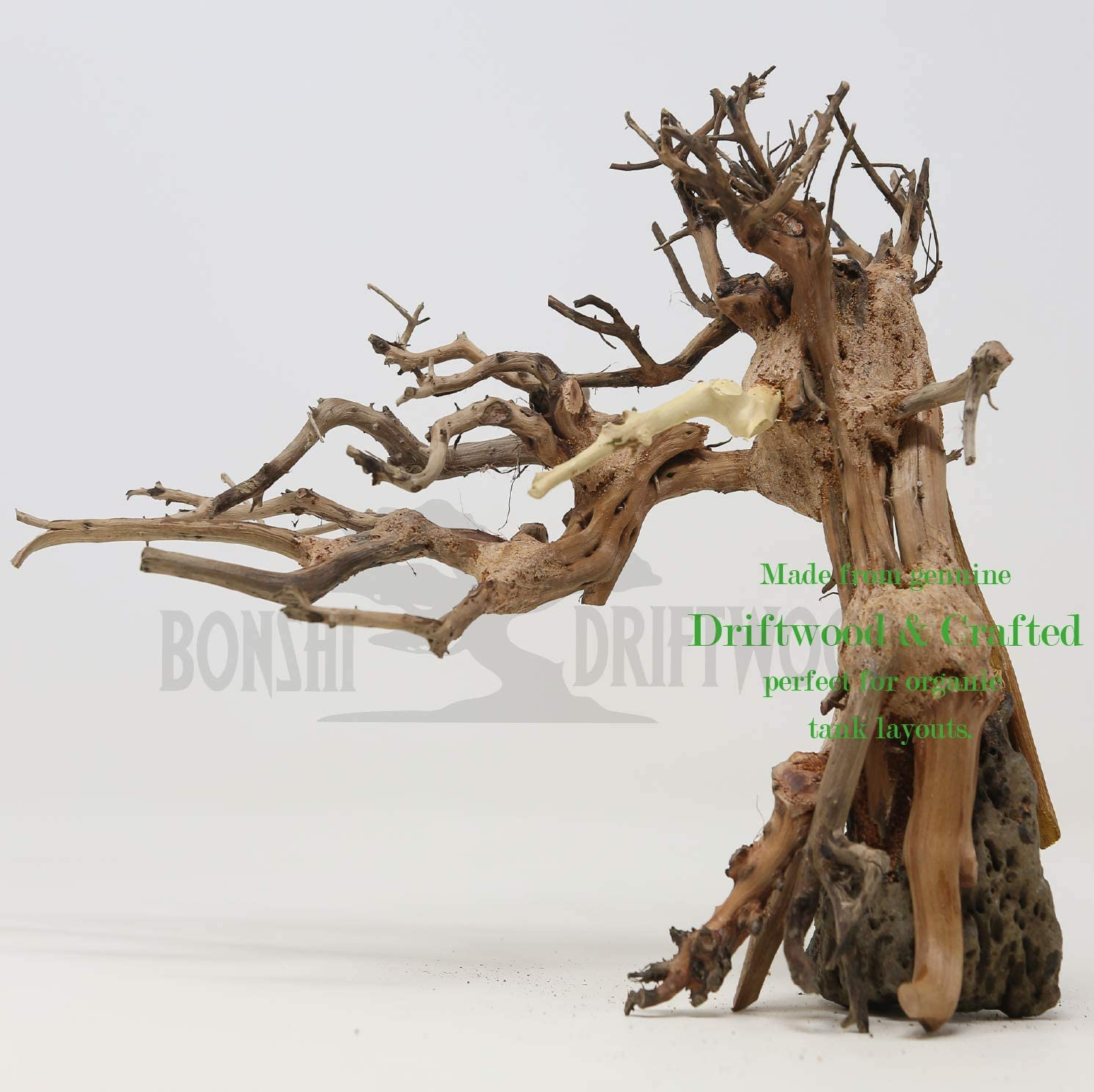 Amazon Com Bonsai Driftwood Aquarium Tree Lsc Random Pick 8in H X 11in L Natural Handcrafted Fish Tank Decoration Helps Balance Water Ph Levels Stabilizes Environments Easy To Install Pet Supplies