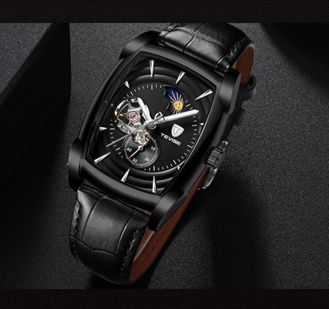 Herrklockor, multifunktionell mekanisk klocka mode 4-pin klocka Roséguld svart