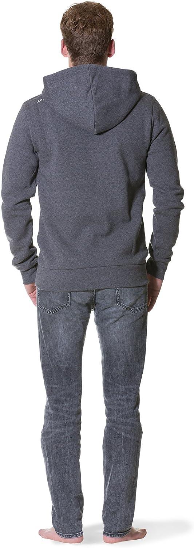 Jumpster Sweatjacke Damen Hoodie Herren Turtleneck Pullover Bio-Baumwolle Eco Hoodie Exquisite Grau