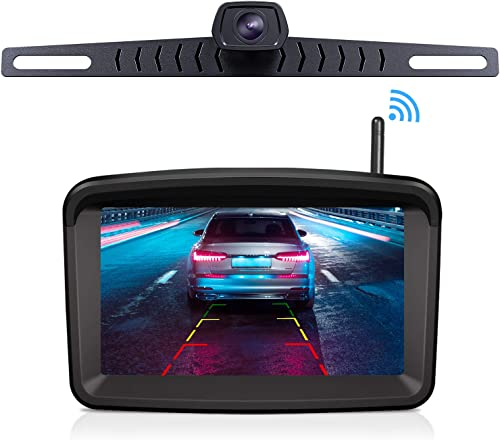 Wireless Backup Camera with 5 HD Monitor for Trucks traliers RVs Camper Van Pickup with Monitor Xroose Backup Camera F3 License Plate IP69K Waterproof 152 Night Vision