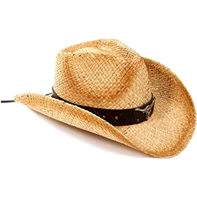 8eec18812f8 AbbyLexi Cowboy Cowgirl Straw Hat Wide Brim Beach Sun Hats For Kids Childs
